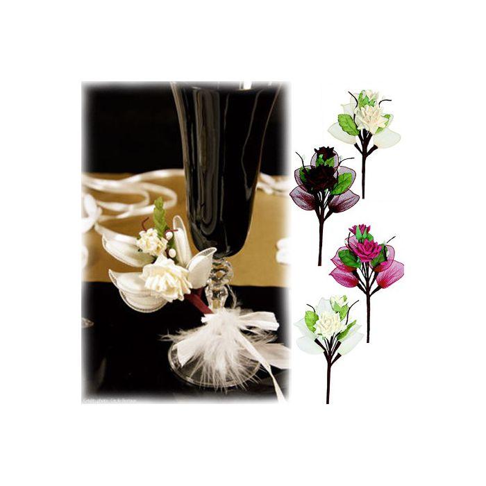 bouquet de rose drag es fleurs raquettes par lot de 4. Black Bedroom Furniture Sets. Home Design Ideas