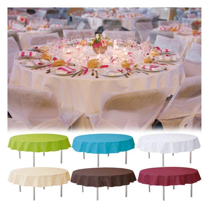Nappe de table rond non tiss 240cm pour votre d coration - Vaisselles de table ...