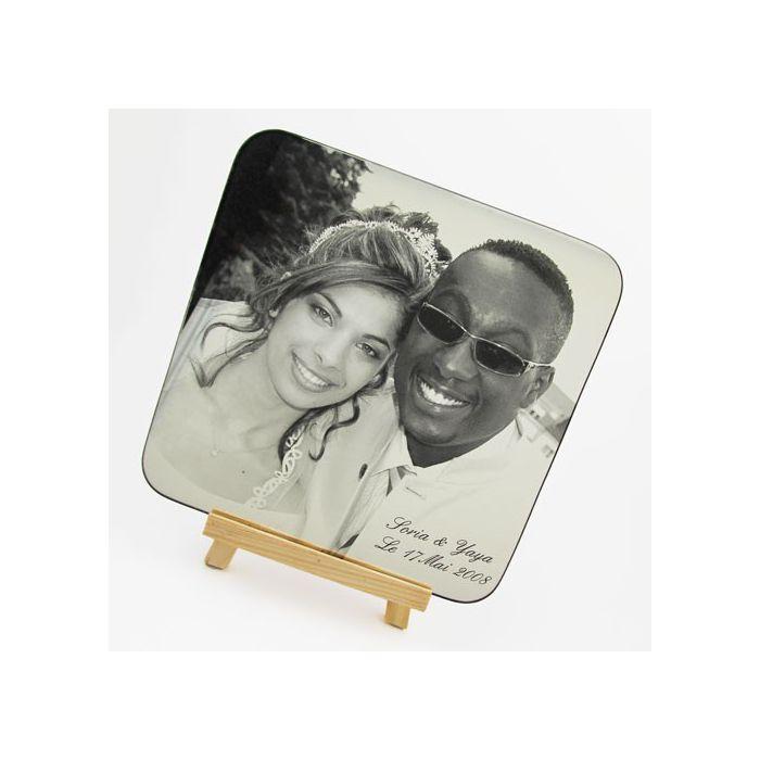 cadre photo miroir grav mariage photo - Cadre Photo Mariage Grav