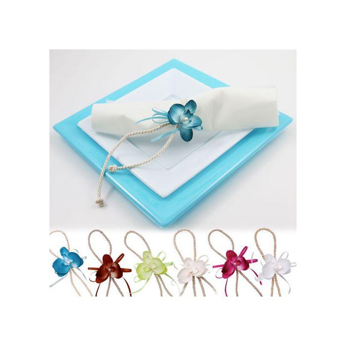 orchid e attache serviette vendue par lot de 2 d co de table tendance. Black Bedroom Furniture Sets. Home Design Ideas
