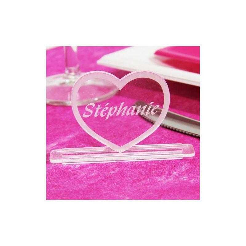 Marque place grav accessoire d co original et personnalis r mariage - Mariage marque place ...