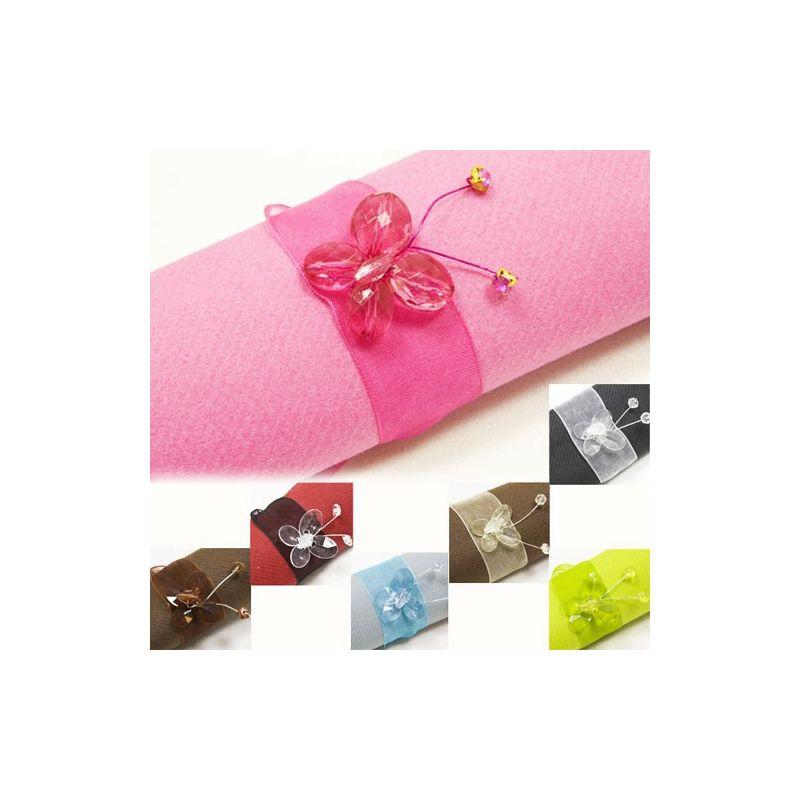 Rond Serviette Papillons Diamant Pour Votre D Coration De