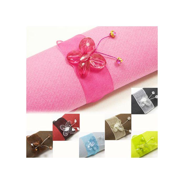 rond serviette papillons diamant pour votre d coration de table. Black Bedroom Furniture Sets. Home Design Ideas