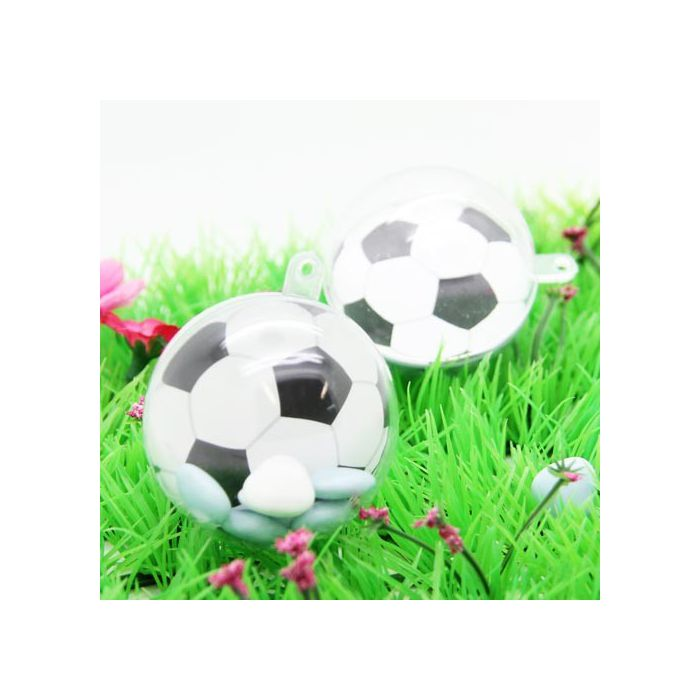 Lot de 12 boules en plexi drag es 5cm th me ballon de foot - Decoration football pour anniversaire ...