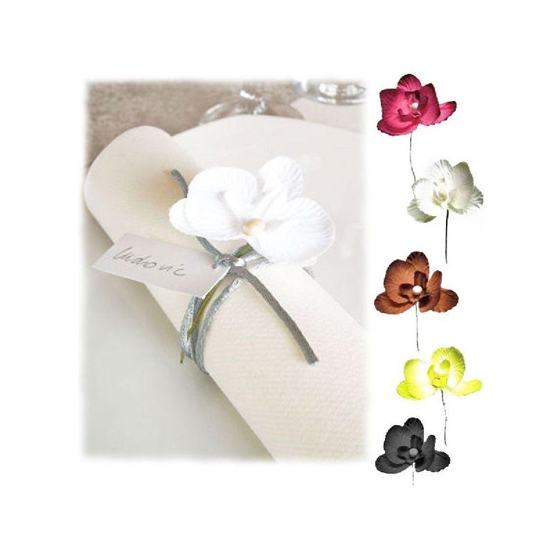 Orchidée déco sur tige X 10