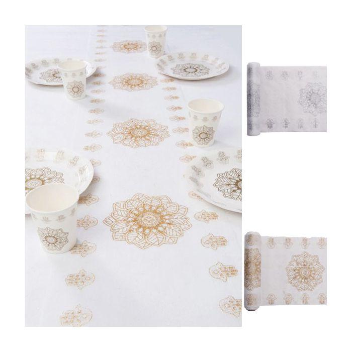 chemin de table oriental d corations de table pour votre mariage. Black Bedroom Furniture Sets. Home Design Ideas