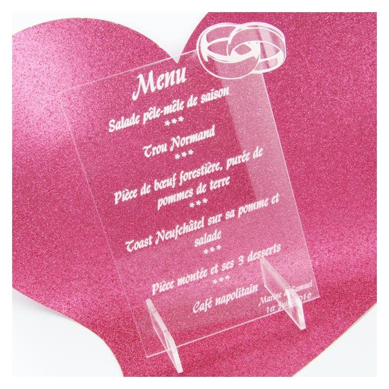 menu de mariage original grav alliance acessoire d co personnalis. Black Bedroom Furniture Sets. Home Design Ideas