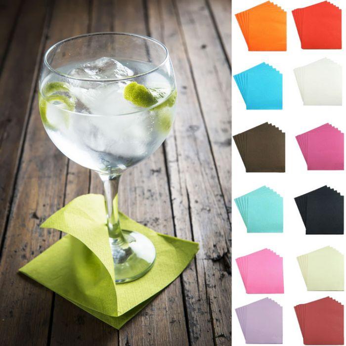 lot de 40 serviettes cocktail jetables pas ch res pour toutes vos soir es. Black Bedroom Furniture Sets. Home Design Ideas