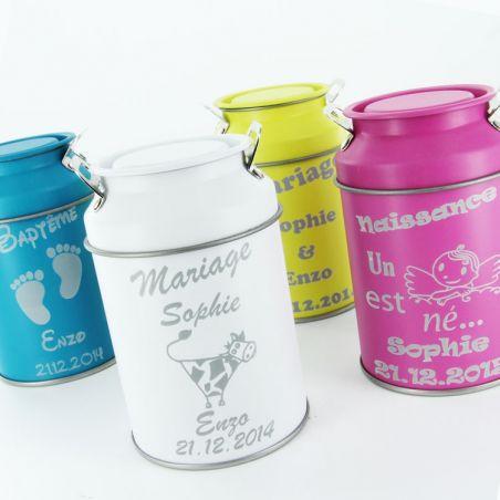 Pot lait dragées Personnalisé