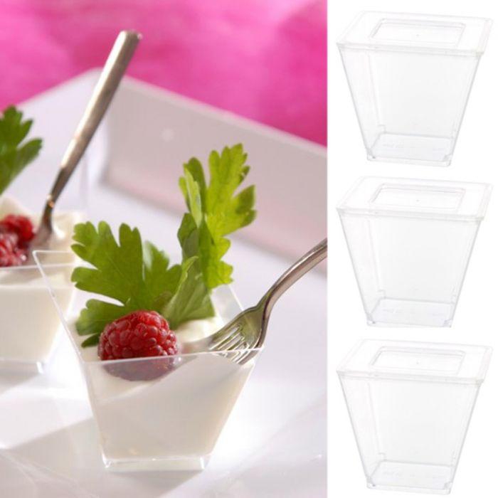 verrine cubique le lot de 10 aperitif ou dessert pour belles pr sentations. Black Bedroom Furniture Sets. Home Design Ideas
