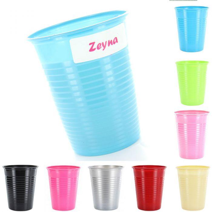 Gobelets plastique couleur lot de 25 - Decoration gobelet plastique ...