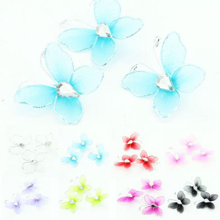 Mini papillons pour d coration x10 accessoire d co de table for Accessoires de decoration