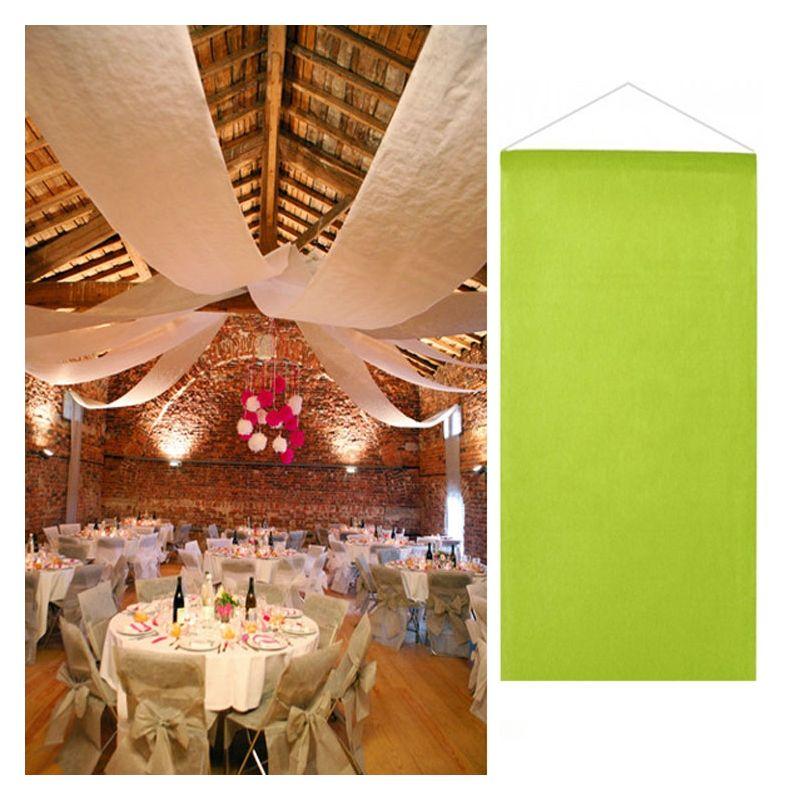 Tenture vert anis salle mariage 12 m tres d coration de salle - Decoration salle mariage pas cher ...