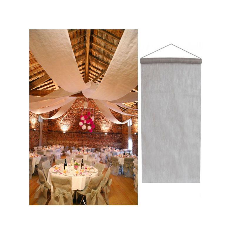 tenture argent salle mariage 12 m tres d coration de salle. Black Bedroom Furniture Sets. Home Design Ideas