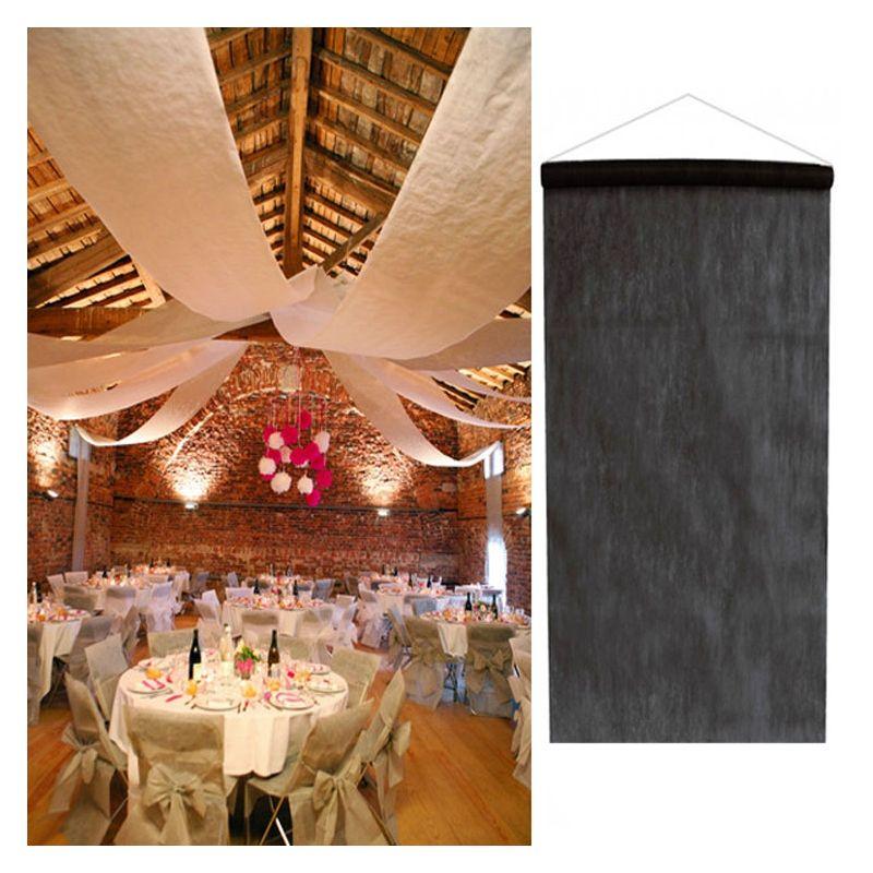 tenture noir salle mariage 12 m tres d coration de salle. Black Bedroom Furniture Sets. Home Design Ideas