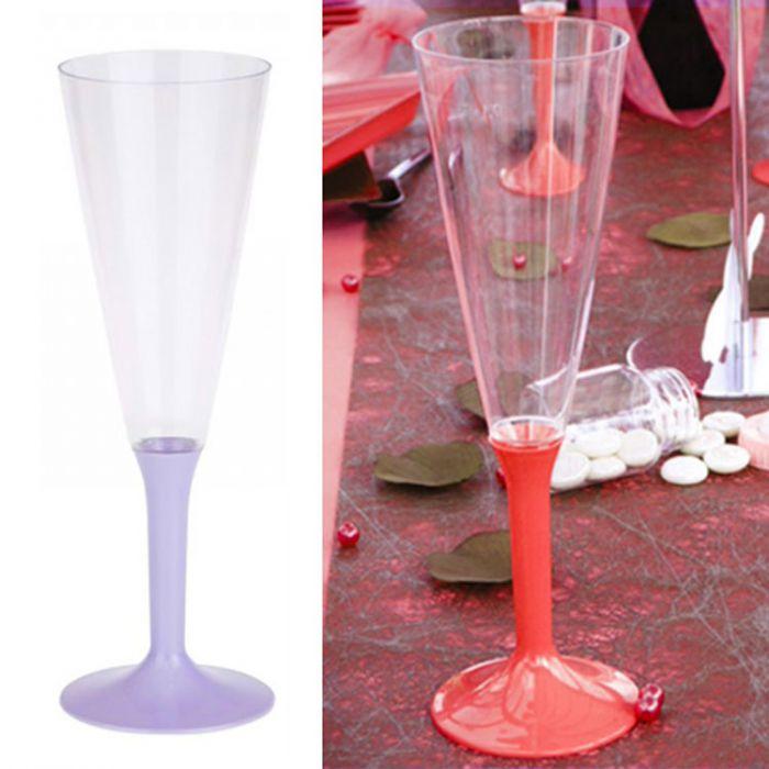 lot de 10 fl te champagne plastique vaiselle jetable 13cl parme. Black Bedroom Furniture Sets. Home Design Ideas