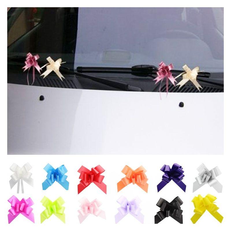 ... / Décorations / Mini nœud décoration voiture mariage (lot de 20