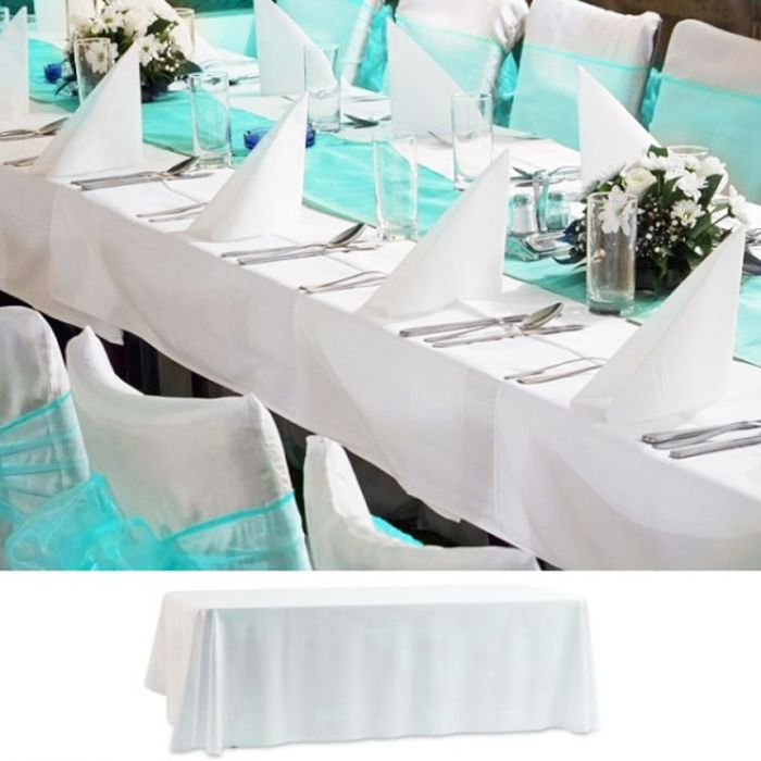 nappe de table mariage rectangulaire. Black Bedroom Furniture Sets. Home Design Ideas
