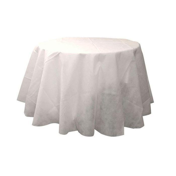 Nappe de table ronde blanche 240cm - Housse de chaise ronde mariage ...