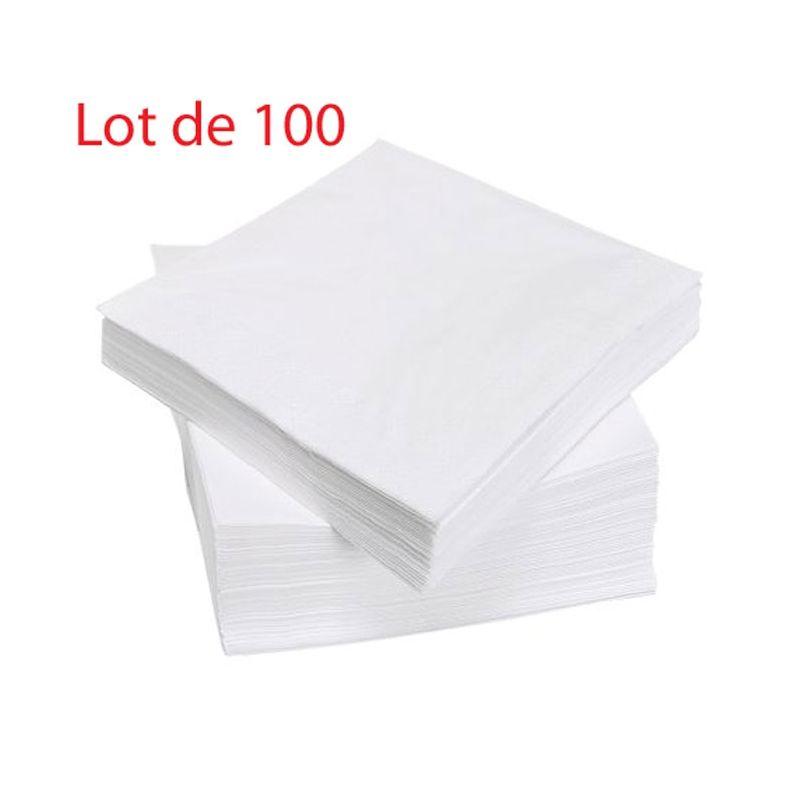 Serviettes de table jetables pas ch re de qualit 40 pi ces - Serviette de table blanche ...