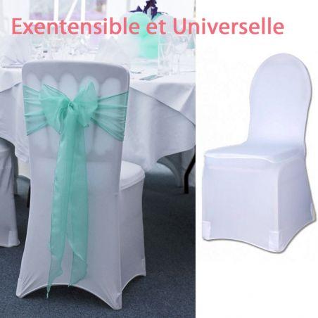 Housse de chaise mariage tissu Elastique Lycra - Universelle