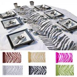CHEMIN DE TABLE zebra 28cmx5