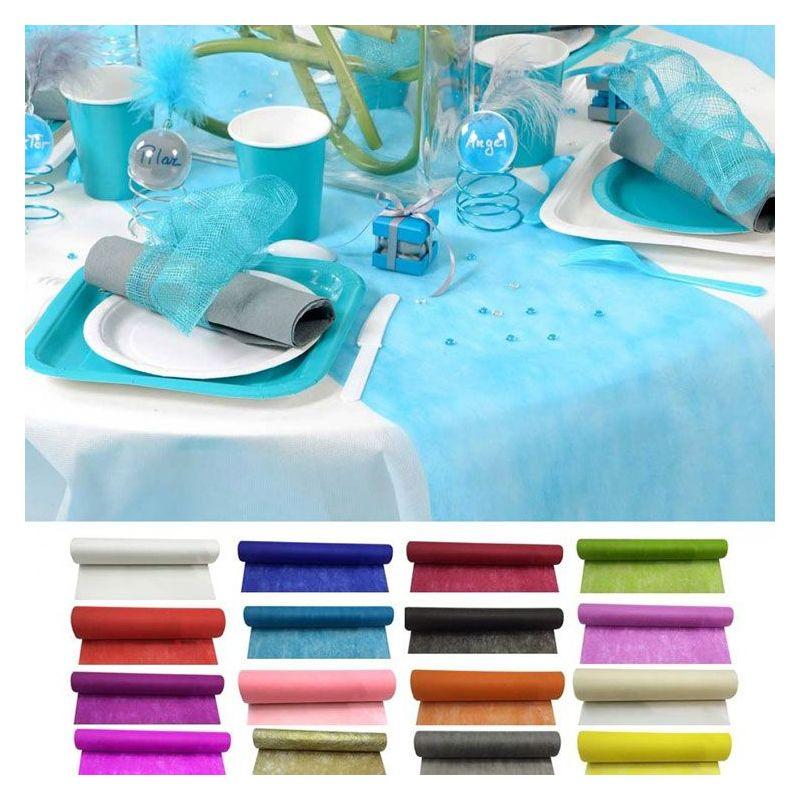chemin de table pas cher d corations de table. Black Bedroom Furniture Sets. Home Design Ideas