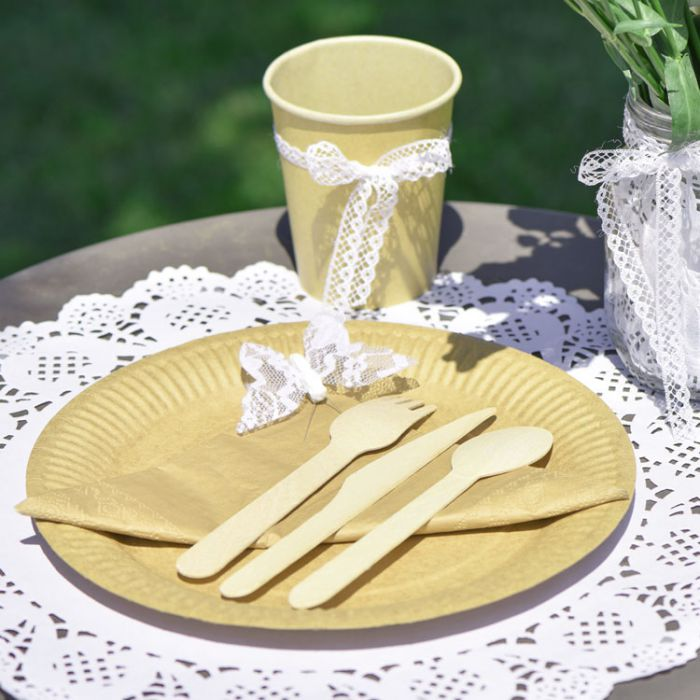 Serviettes de table jetables couleur kraft de qualit 40 pi ces - Serviette de table jetable ...