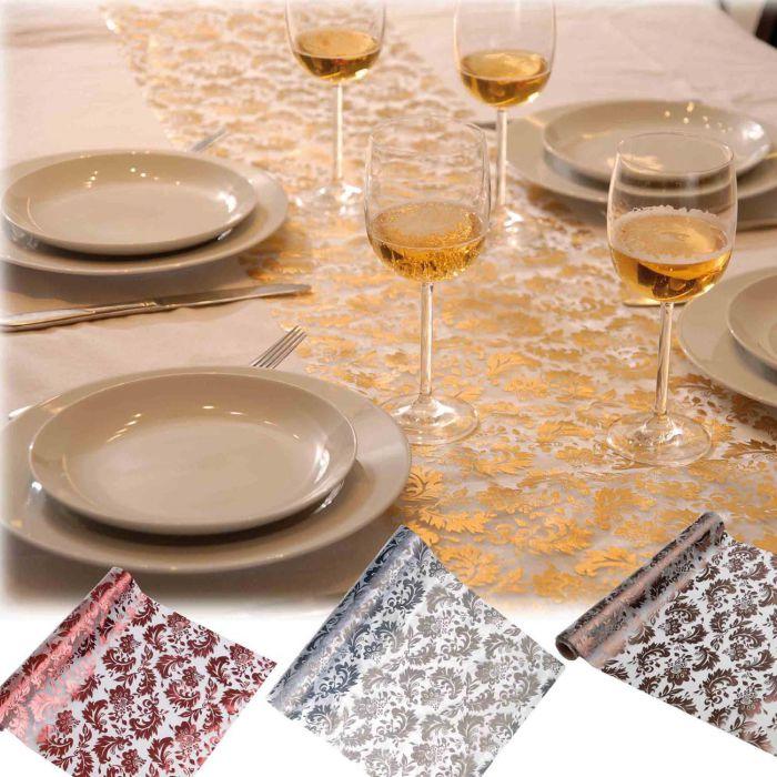 Chemin de table arabesque d corations de table pour vos - Vaisselles de table ...