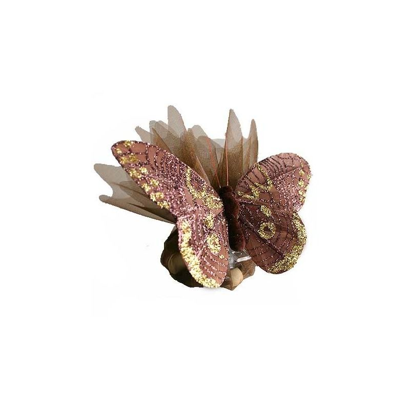 Papillons scintillants sur pince X6