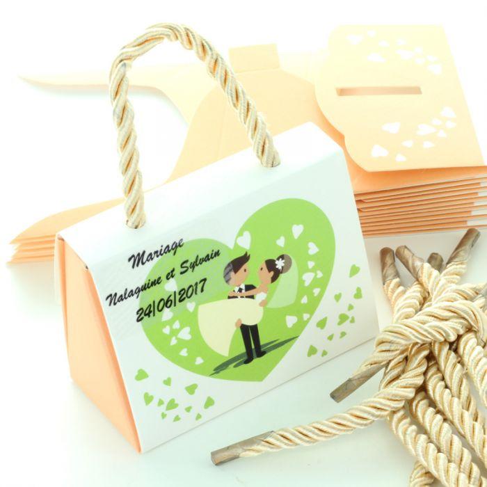Boite drag es mariage pas cher sac en carton avec anse - Boite dragees pas cher ...