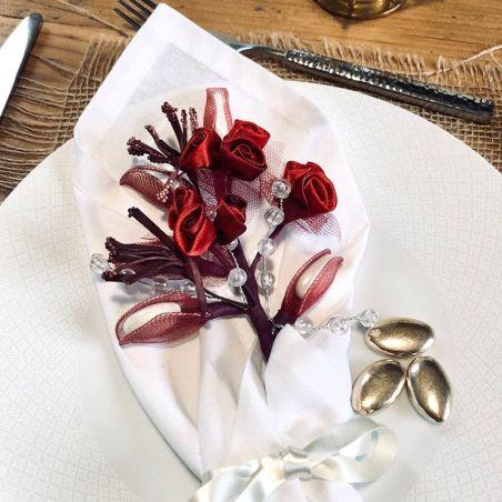 Bouquet perle pétales à dragées