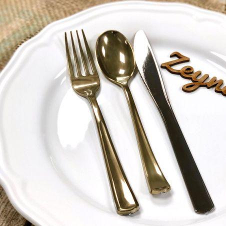Ménagère de table jetable Or 30 piéces