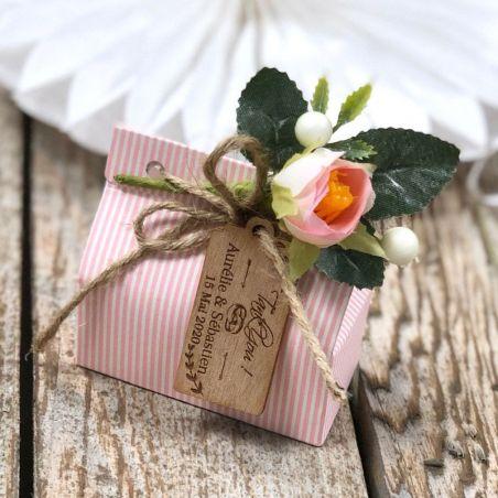 Boite dragées chic Rose (lot de 10)
