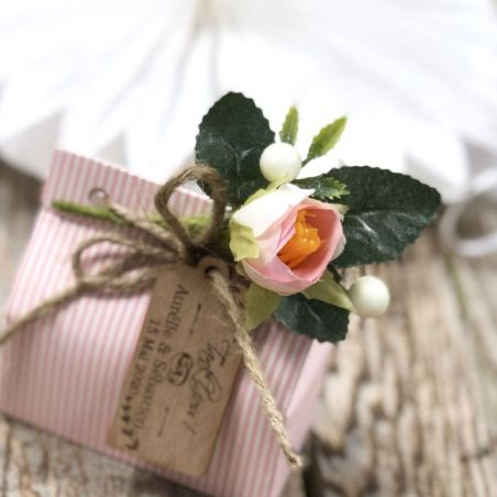 Mini déco Bouquet Pivoine (lot de 12) - Rose