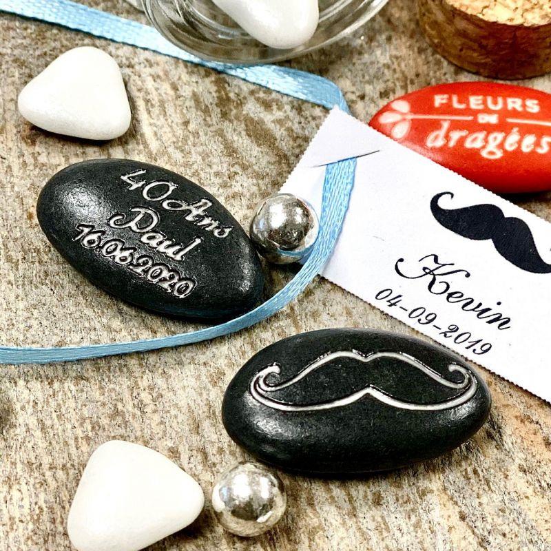 Dragées personnalisées Moustache