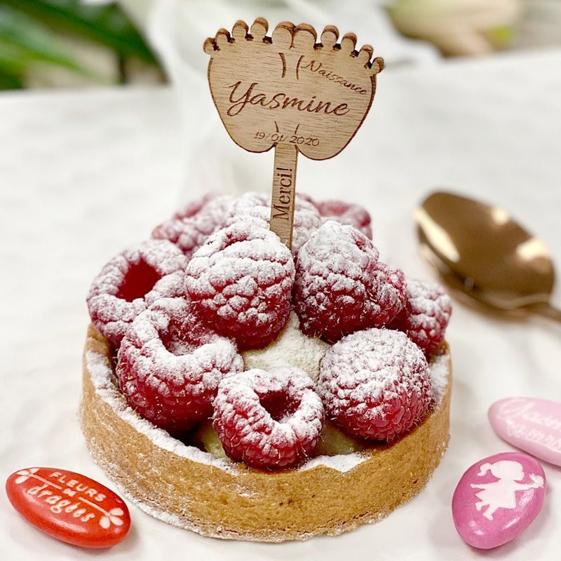 Étiquette Pic gâteau naissance - Pieds
