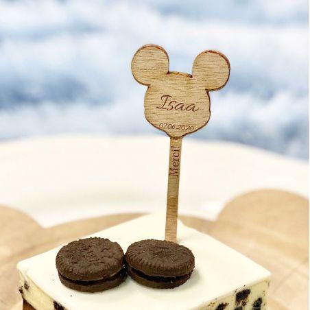 Étiquette Pic à gâteau - Mickey