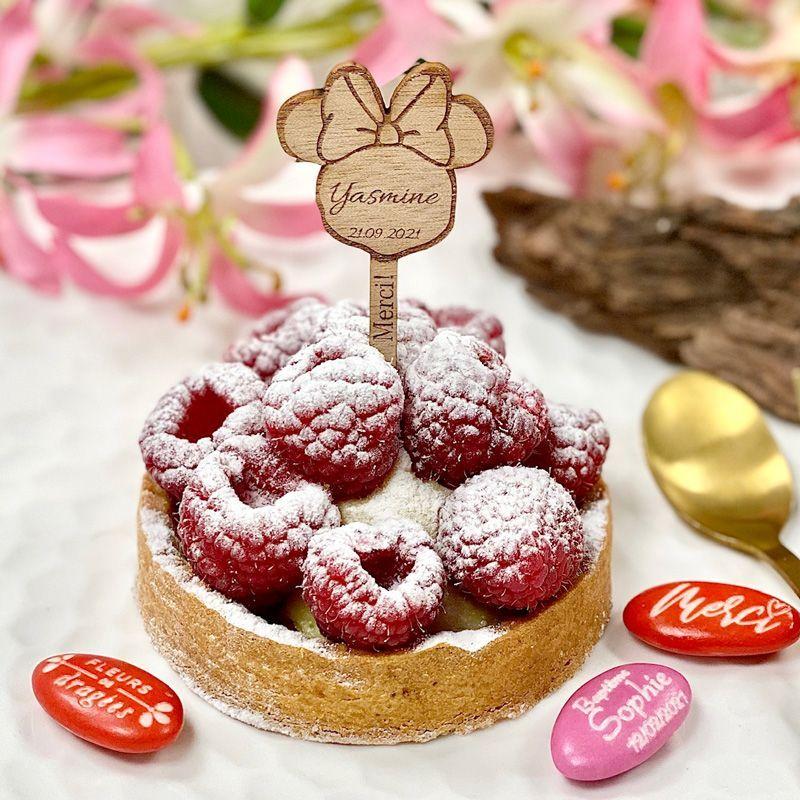Étiquette Pic à gâteau personnalisée - Minnie