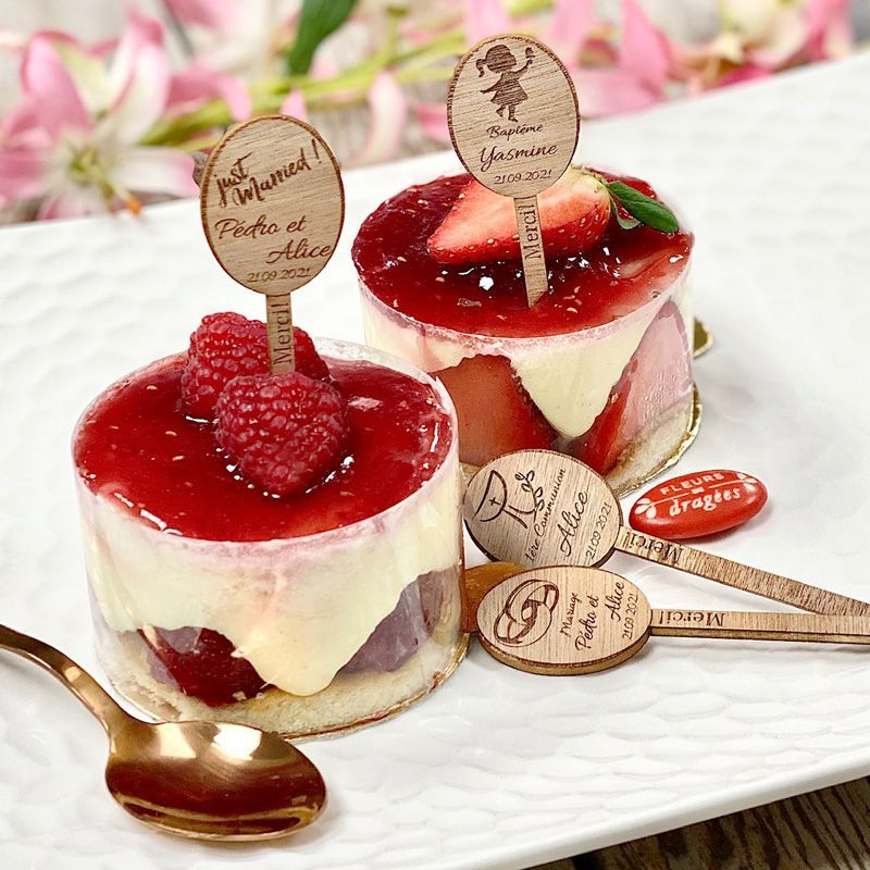 Étiquette Pic gâteau - Personnalisée