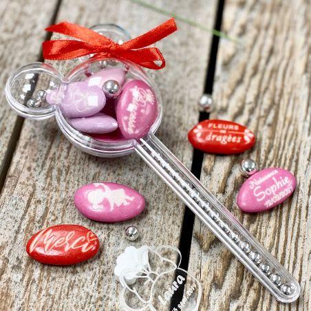 Boite dragées Minnie baguette magique (lot de 6)