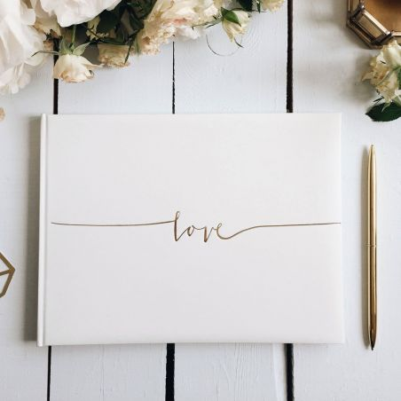 "Livre d'or mariage ""Love"""