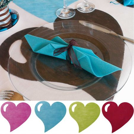Set de Table Coeur X50