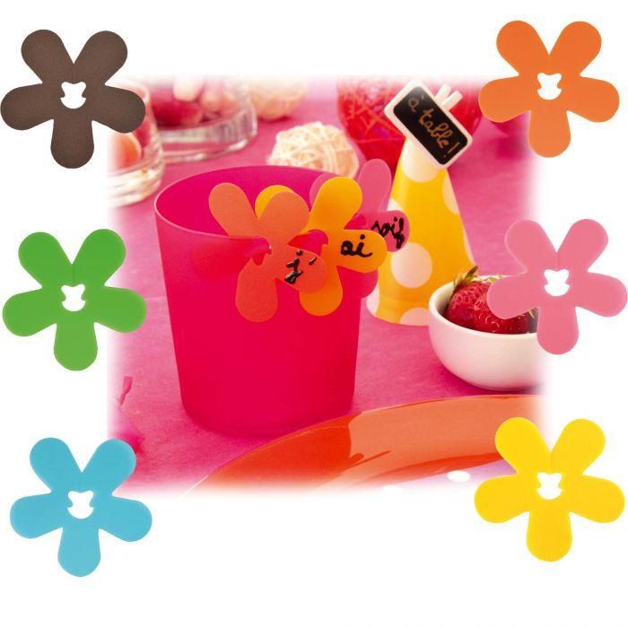 fleur marque place le lot de 24 d coration de table tendance. Black Bedroom Furniture Sets. Home Design Ideas